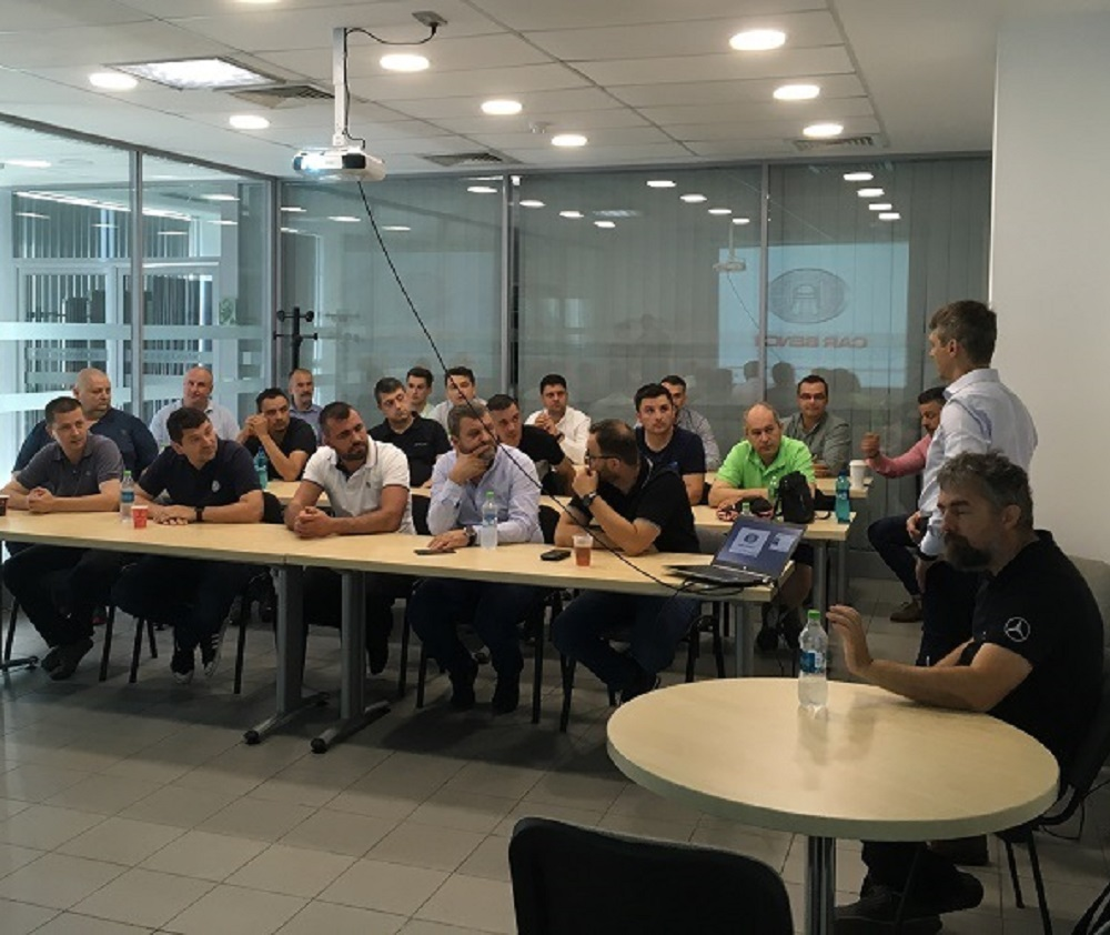 Contact Evolution presentation at Mercedes-Benz Romania in Bucharest